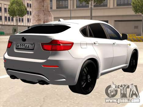 BMW X6 Hamann for GTA San Andreas back view
