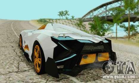 Lamborghini Egoista for GTA San Andreas back left view