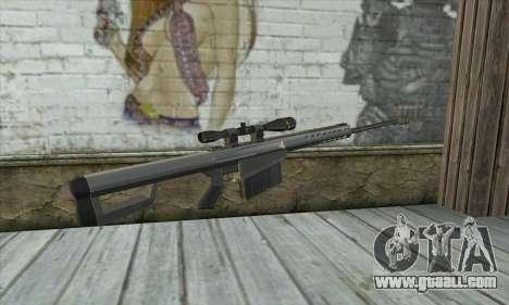 Barrett M82 for GTA San Andreas second screenshot