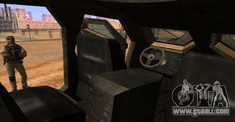 M-ATV из Call of Duty: Ghosts for GTA San Andreas upper view