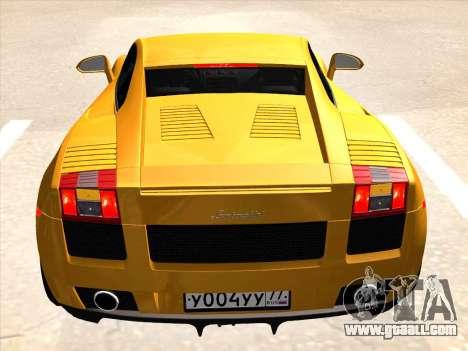 Lamborghini Gallardo for GTA San Andreas right view