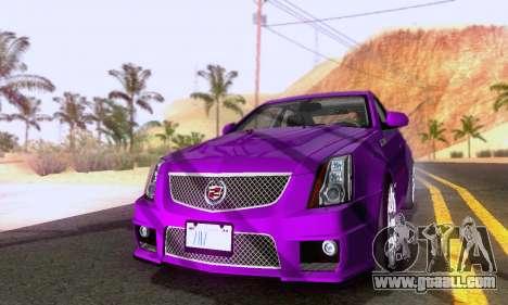 Cadillac CTS-V Sedan 2009-2014 for GTA San Andreas back left view