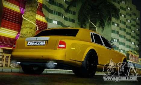 Rolls-Royce Phantom for GTA San Andreas upper view