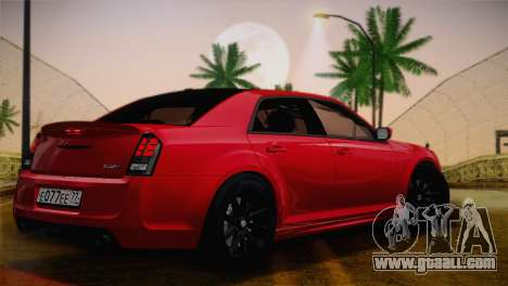 Chrysler 300 SRT8 Black Vapor Edition for GTA San Andreas back view