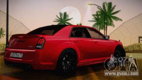 Chrysler 300 SRT8 Black Vapor Edition for GTA San Andreas back view