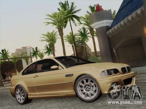 BMW M3 E46 2005 for GTA San Andreas back view