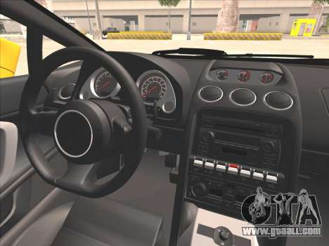 Lamborghini Gallardo for GTA San Andreas inner view