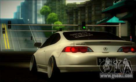Acura RSX Stance for GTA San Andreas back view