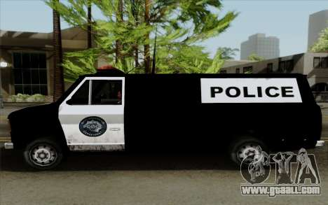 S.W.A.T van for GTA San Andreas back left view