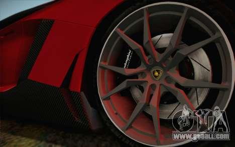 Lamborghini Aventador LP720-4 2013 for GTA San Andreas back left view