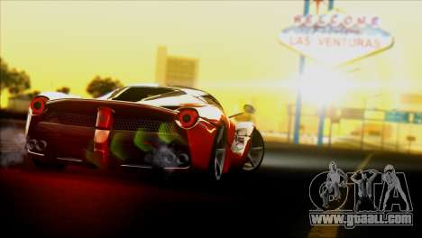 Ferrari LaFerrari 2014 for GTA San Andreas back left view