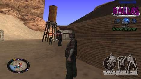 C-HUD Ballas Gang for GTA San Andreas third screenshot