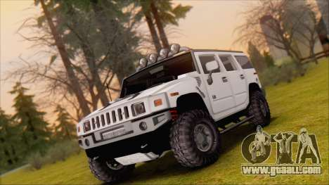 Hummer H2 Tunable for GTA San Andreas side view