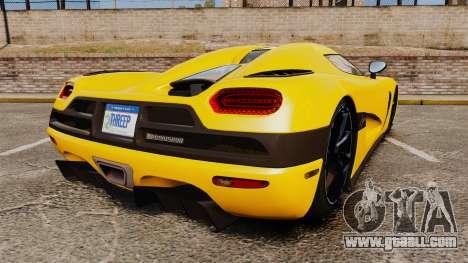 Koenigsegg Agera TE [EPM] for GTA 4 back left view