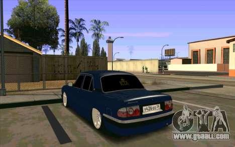 GAZ 31105 for GTA San Andreas inner view
