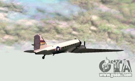 C-47 Dakota USAF for GTA San Andreas back left view