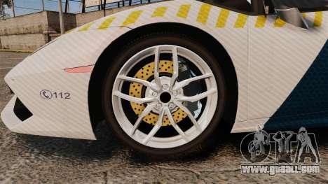 Lamborghini Huracan Hungarian Police [ELS] for GTA 4 back view