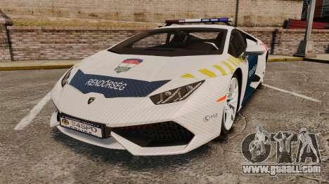 Lamborghini Huracan Hungarian Police [ELS] for GTA 4