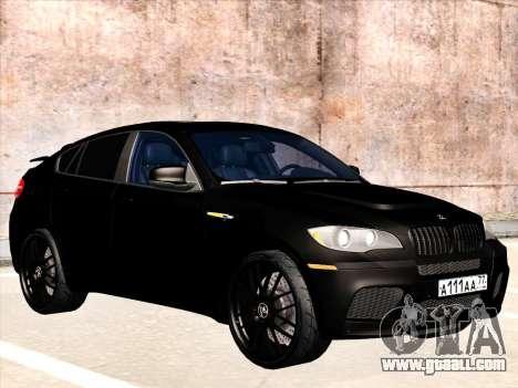 BMW X6 Hamann for GTA San Andreas bottom view