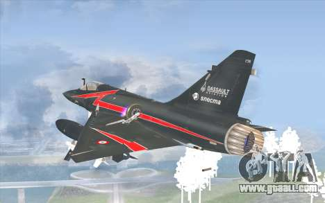 Dassault Mirage 2000-C for GTA San Andreas left view