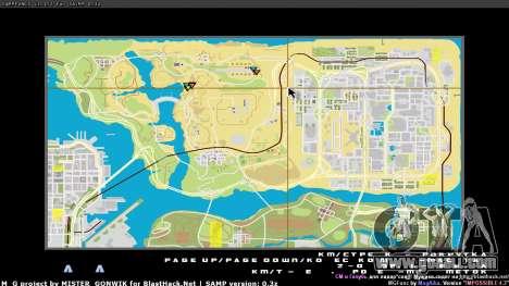 Map in real time for GTA San Andreas third screenshot