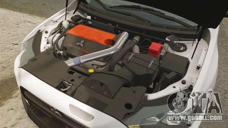 Mitsubishi Lancer Evolution X FQ400 (Cor Rims) for GTA 4 inner view