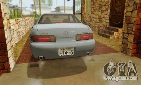 Lexus SC300 v1.01 [ImVehFT] for GTA San Andreas upper view