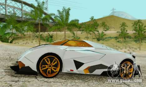 Lamborghini Egoista for GTA San Andreas left view
