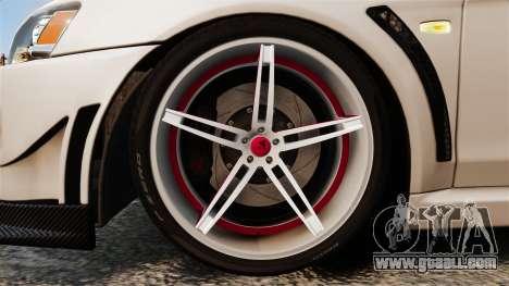Mitsubishi Lancer Evolution X FQ400 (Cor Rims) for GTA 4 back view