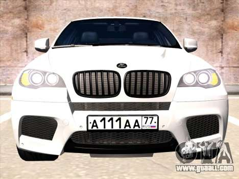 BMW X6 Hamann for GTA San Andreas left view