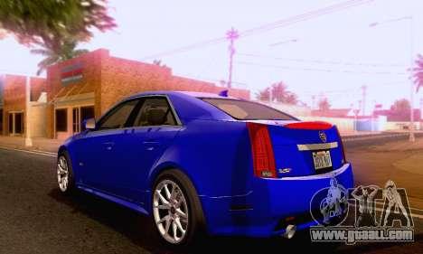 Cadillac CTS-V Sedan 2009-2014 for GTA San Andreas left view