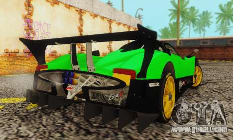 Pagani Zonda Type R Green for GTA San Andreas back left view