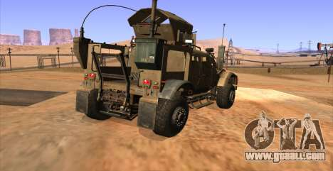 M-ATV из Call of Duty: Ghosts for GTA San Andreas left view