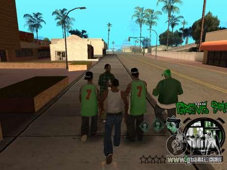 C-HUD Groove Street for GTA San Andreas eighth screenshot