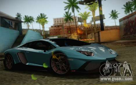 Lamborghini Aventador LP720-4 2013 for GTA San Andreas engine