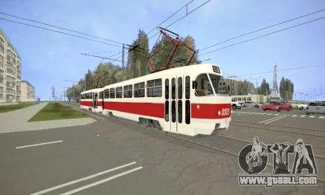 Tatra T3SU for GTA San Andreas