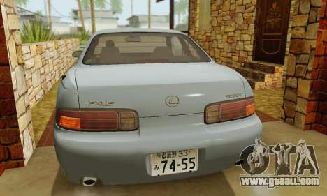 Lexus SC300 v1.01 [ImVehFT] for GTA San Andreas bottom view