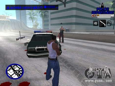 С-Hud Police Department for GTA San Andreas forth screenshot