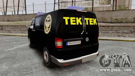 Volkswagen Transporter T5 Hungarian TEK [ELS] for GTA 4 back left view