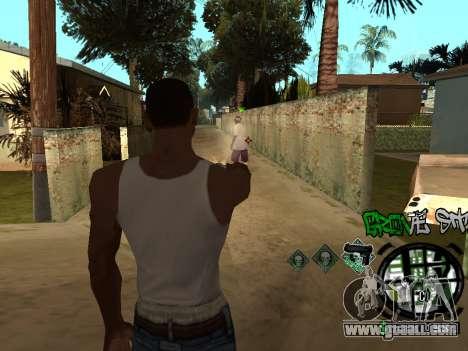 C-HUD Groove Street for GTA San Andreas sixth screenshot