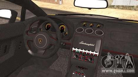 Lamborghini Gallardo LP570-4 Edizione Tecnica for GTA San Andreas bottom view