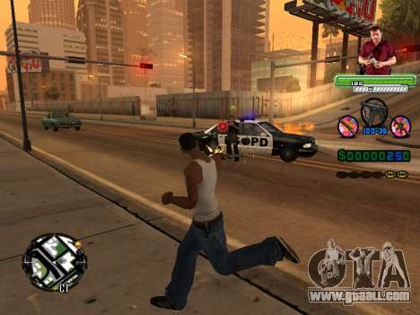 C-HUD Michael (GTA V) for GTA San Andreas forth screenshot