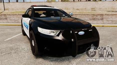 Ford Taurus Police Interceptor 2013 [ELS] for GTA 4