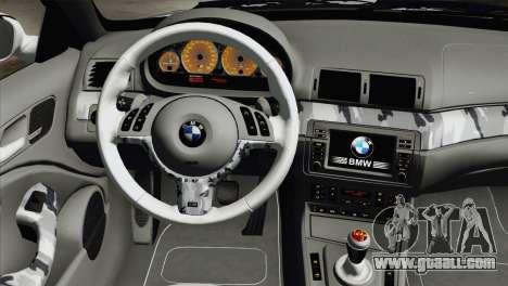 BMW M3 E46 Camo for GTA San Andreas right view
