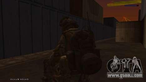 Ranger из Call Of Duty: Ghosts for GTA San Andreas sixth screenshot