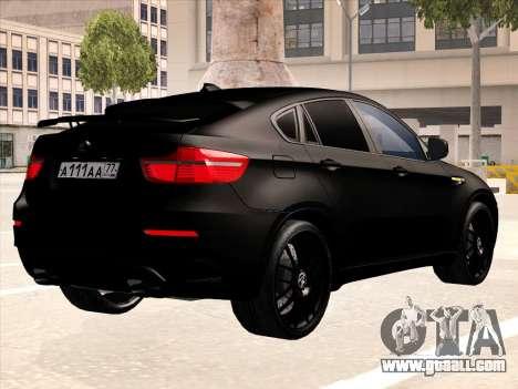 BMW X6 Hamann for GTA San Andreas engine