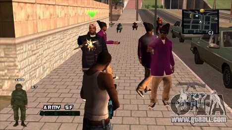 C-HUD Army for GTA San Andreas second screenshot