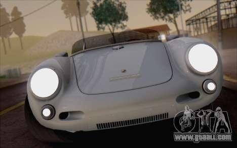 Porsche 550 Spyder 1955 for GTA San Andreas back view