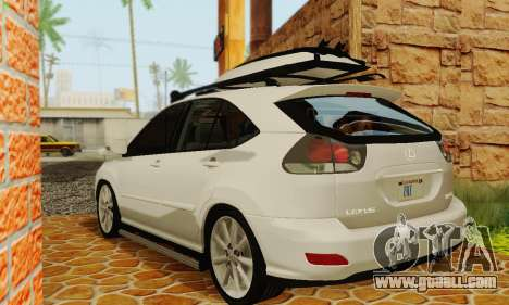 Lexus RX400h 2010 for GTA San Andreas back left view