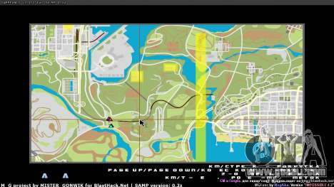 Map in real time for GTA San Andreas second screenshot